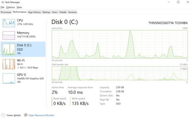 Диспетчер задач Windows 10 получит три новые функции