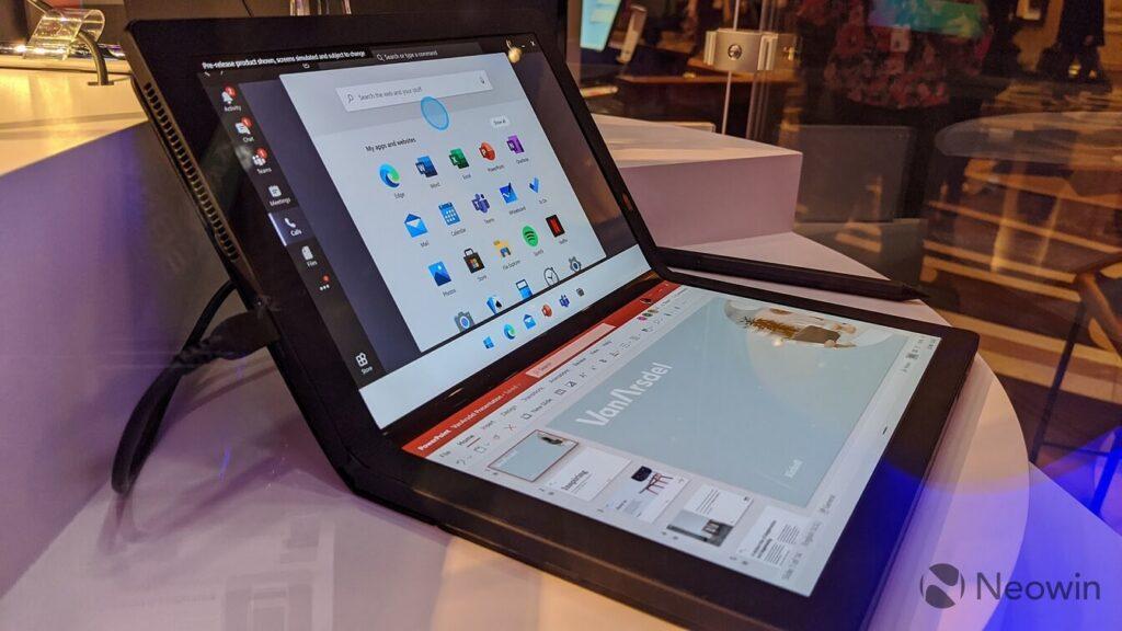 Windows 10X с новым центром уведомлений и жестами